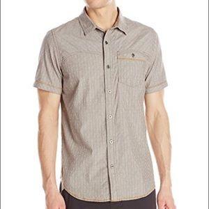Prana Men's Patras Cotton Button Down Size L 195
